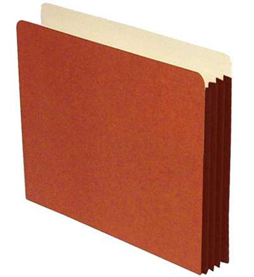 "File folder with 5-1/4"" Accordion Expansion - Top Tab - High Rise Sides - Letter Size - 50/Carton"