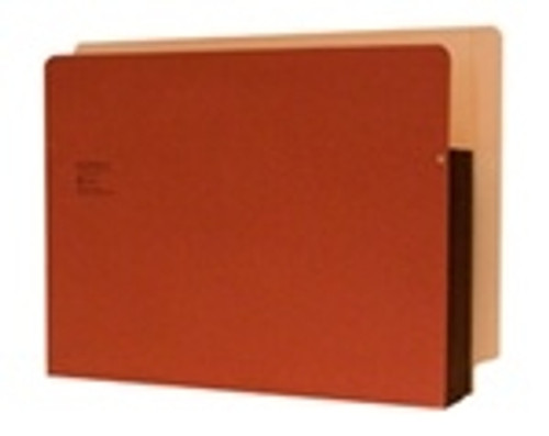 """Side Tab folder, Full Right Side Tab - Notch, 5 1/4"""" Accordion Expansion, Tyvek Gusset, Legal Size Box of 50"""