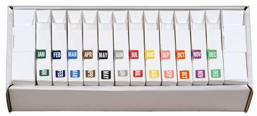 TAB Month Labels - TMLV Series (Rolls) - JAN-DEC Set