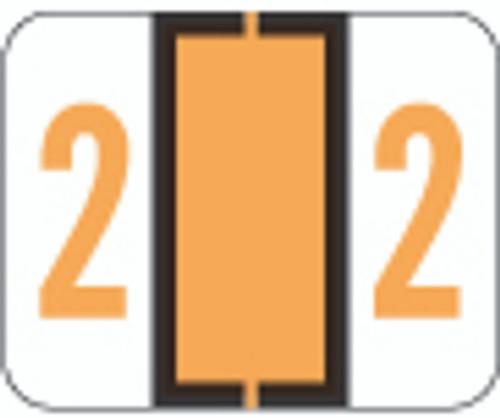TAB Numeric Label  - TPNV Series (Rolls) - 2 - Lt. Orange