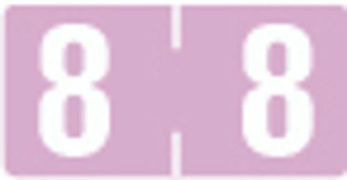 TAB Numeric Label  - TBVN Series (Rolls) - 8 - Lilac