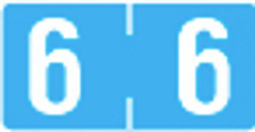 TAB Numeric Label  - TBVN Series (Rolls) - 6 - Blue