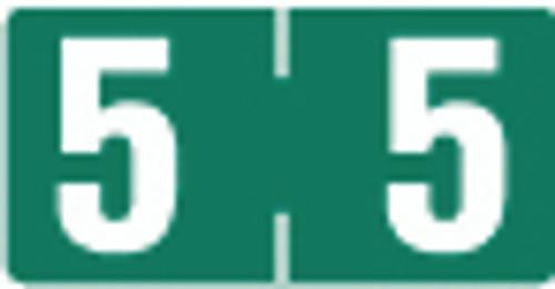 TAB Numeric Label  - TBVN Series (Rolls) - 5 - Dk. Green