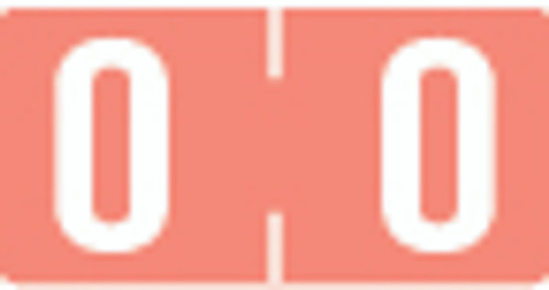 TAB Numeric Label  - TBVN Series (Rolls) - 0 - Pink