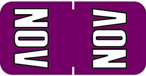 Sycom Top Tab Month Labels - SYTT Series - (252/Pack) - November - Purple