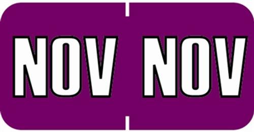 Sycom End Tab Month Labels - SYET Series - (252/Pack) - November - Purple