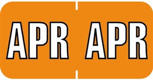 Sycom End Tab Month Labels - SYET Series - (252/Pack) - April - Orange