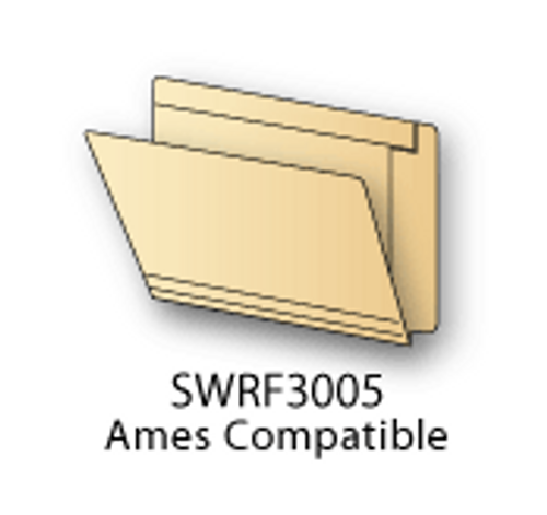Ames Compatible End Tab Folders Letter 14pt., Reinforced, Box Of 50