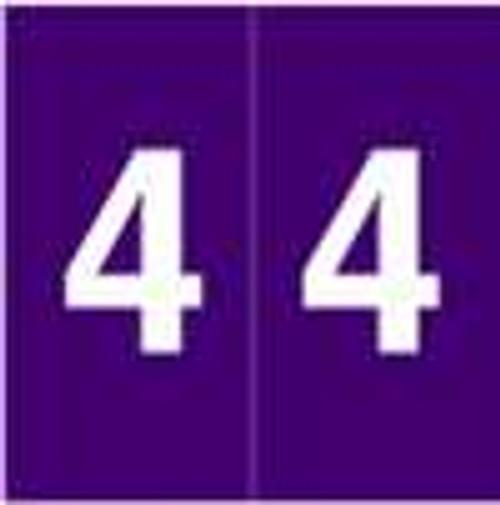 S and W Numeric Label - KKL Series (Rolls) - 4 - Purple