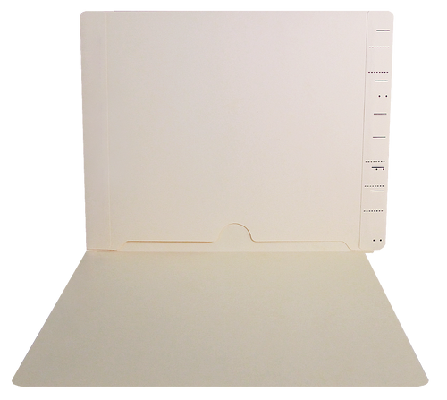 End Tab Folder with Full Back Pocket - 11 PT. Manila - Semco Compatible  - Letter -Size - 50/Box