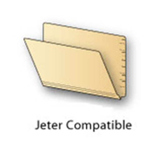 End Tab Folder, Jeter Compatible, Letter Size, 14 Point Manila, Reinforced Super Tab, Box of 50