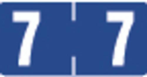 TAB Numeric Label  - TBVN Series (Rolls) - 7 - Purple