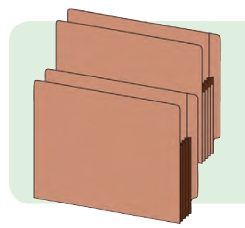 "End Tab Redrope Accordion Expansion folder - Legal Size with 5-1/4"" Accordion Expansion - 10 Per Box"