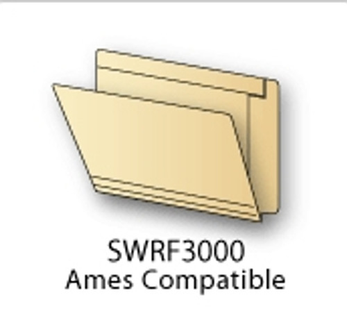 Ames Compatible End Tab Folders Letter 11pt., Reinforced, Box Of 50