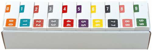 Sav-Tyme/SFI Numeric Label - STNM Series (Rolls) - 0-9 Set with tray