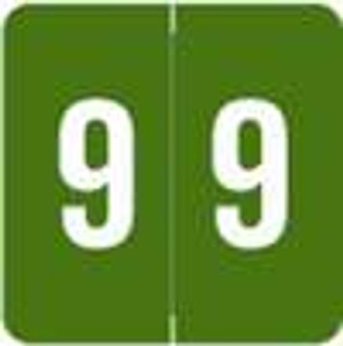Sav-Tyme/SFI Numeric Label - STNM Series (Rolls) - 9 - Green