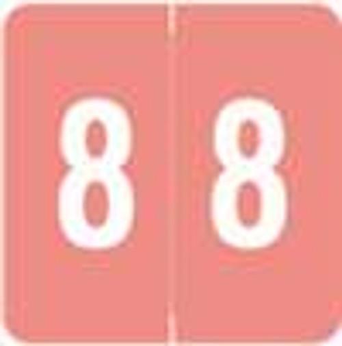 Sav-Tyme/SFI Numeric Label - STNM Series (Rolls) - 8 - Pink