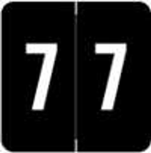 Sav-Tyme/SFI Numeric Label - STNM Series (Rolls) - 7 - Black