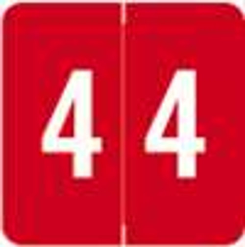 Sav-Tyme/SFI Numeric Label - STNM Series (Rolls) - 4 - Red
