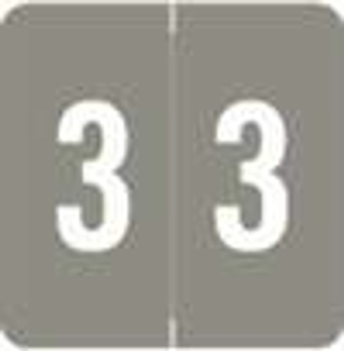 Sav-Tyme/SFI Numeric Label - STNM Series (Rolls) - 3 - Gray