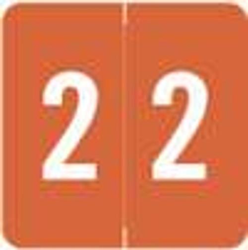 Sav-Tyme/SFI Numeric Label - STNM Series (Rolls) - 2 - Brown