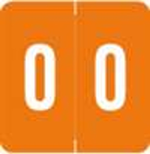 Sav-Tyme/SFI Numeric Label - STNM Series (Rolls) - 0 - Orange