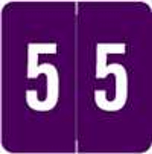 Sav-Tyme/SFI Numeric Label - STNM Series (Rolls) - 5 - Purple