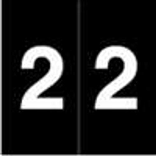 S and W Numeric Label - KKL Series (Rolls) - 2 - Black