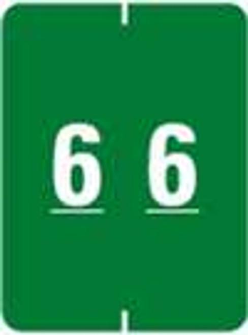 IFC Numeric Label - CL2200 Series (Rolls) - 6 - Green