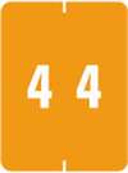 IFC Numeric Label - CL2200 Series (Rolls) - 4 - Orange