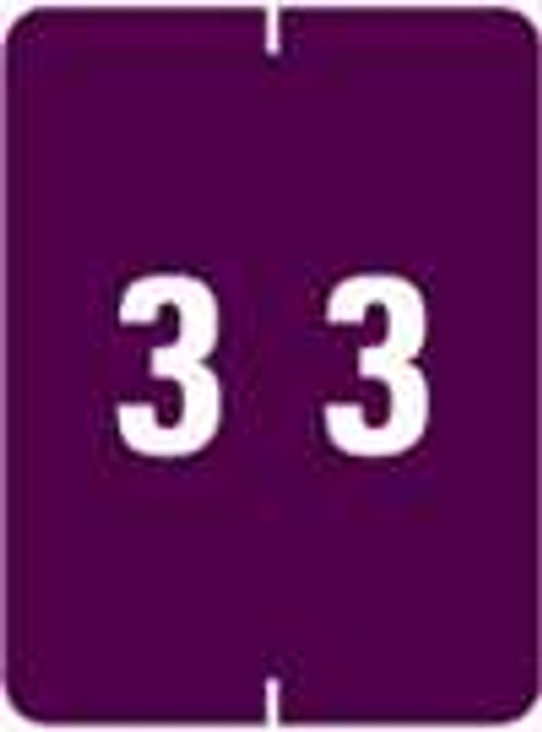 IFC Numeric Label - CL2200 Series (Rolls) - 3 - Purple
