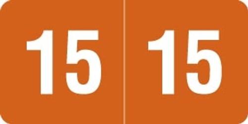 Smead Yearband Label (Rolls of 500) - 2015 - Orange - SMYM Series - Laminated