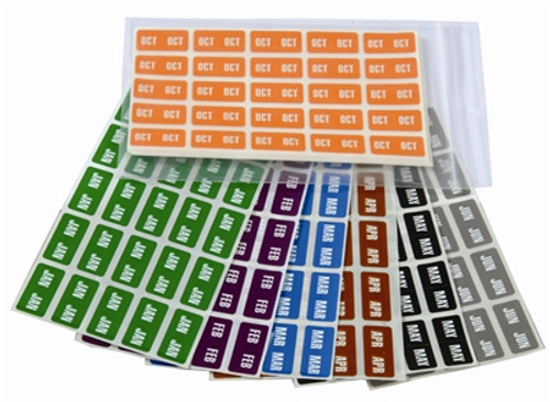 Smead Month Labels - ETS Series (Sheet) - Jan-Dec - Complete Set (250 labels for each month)