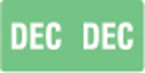 Smead Month Labels - ETS Series (Sheet) - December/Lt. Green - 250/Pack