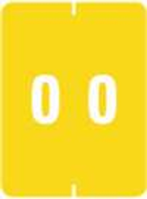 IFC Numeric Label - CL2200 Series (Rolls) - 0 - Yellow