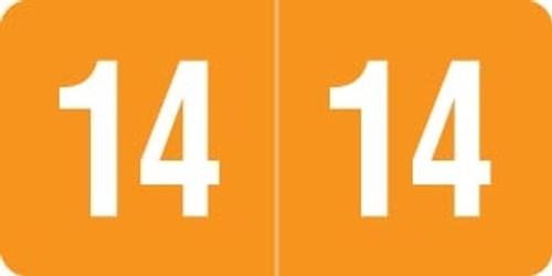 Smead Yearband Label (Rolls) 500 - 2014 - Orange - SMYM Series - Laminated