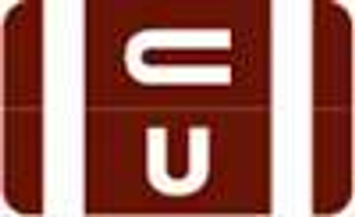 Smead Alphabetic Labels - Alpha-Z ACC Series (Rolls) U- Dk. Brown