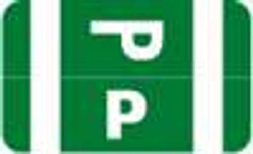 Smead Alphabetic Labels - Alpha-Z ACC Series (Rolls) P- Dk. Green
