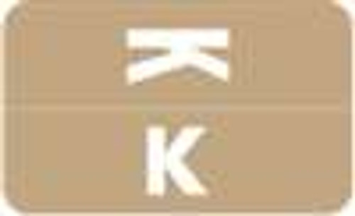 Smead Alphabetic Labels - Alpha-Z ACC Series (Rolls) K- Lt. Brown