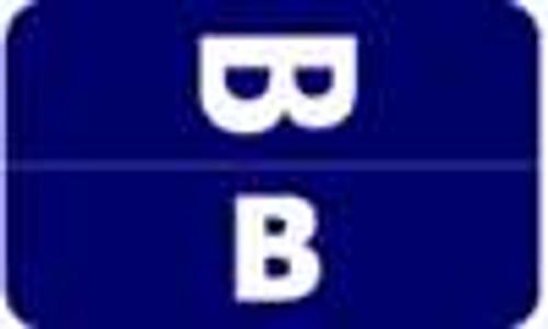 Smead Alphabetic Labels - Alpha-Z ACC Series (Rolls) B- Dk. Blue