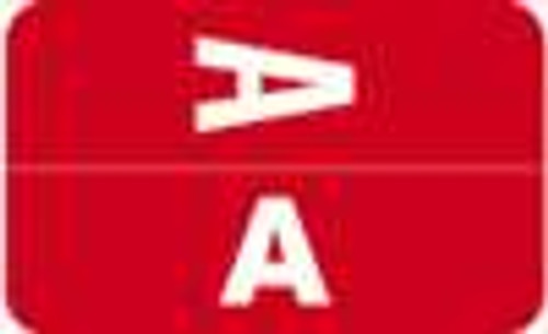 Smead Alphabetic Labels - Alpha-Z ACC Series (Rolls) A- Red