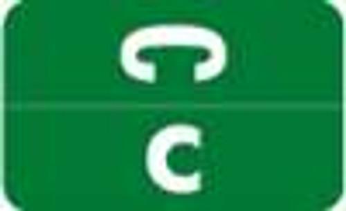 Smead Alphabetic Labels - Alpha-Z ACC Series (Rolls) C- Dk. Green