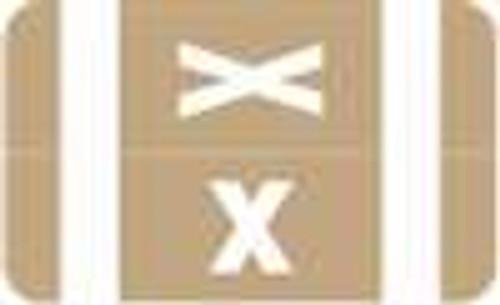 Smead Alphabetic Labels - Alpha-Z ACC Series (Rolls) X- Lt. Brown