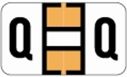 SafeGuard Alphabetic Labels - 511 Series (Sheets for binder) Q- Fl. Orange