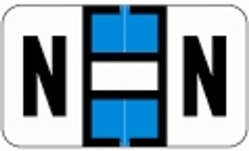 SafeGuard Alphabetic Labels - 511 Series (Sheets for binder) N- Lt. Blue