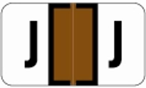 SafeGuard Alphabetic Labels - 511 Series (Sheets for binder) J- Brown