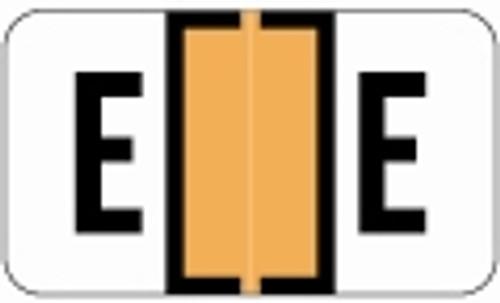 SafeGuard Alphabetic Labels - 511 Series (Sheets for binder) E- Fl. Orange