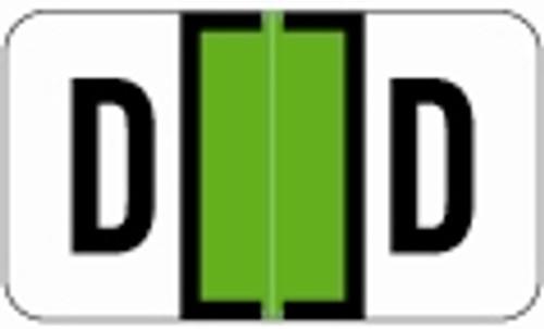 SafeGuard Alphabetic Labels - 511 Series (Sheets for binder) D- Lt. Green