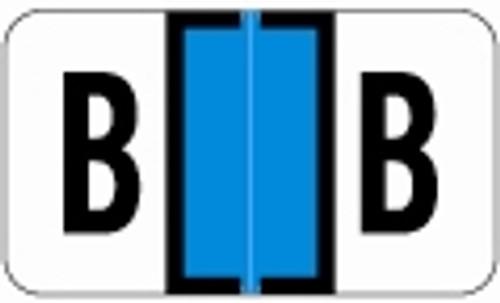 SafeGuard Alphabetic Labels - 511 Series (Sheets for binder) B- Lt. Blue