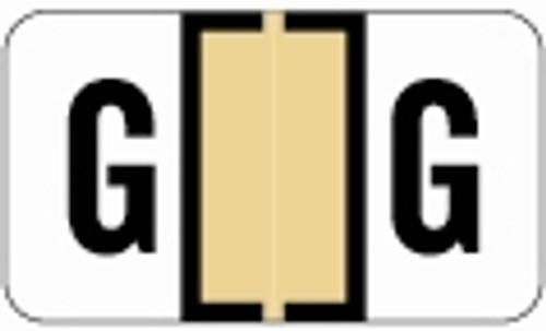 SafeGuard Alphabetic Labels - 514 Series (Rolls) G- Tan